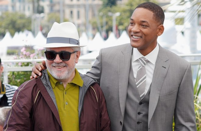 CANNES, FRANCE - MAY 17:  (L-R) Jury members Gabriel Yared, Park Chan-wook, President of the jury Pedro Almodovar and jury member Will Smith attend the Jury photocall during the 70th annual Cannes Film Festival at Palais des Festivals on May 17, 2017 in Cannes, France.  (Photo by Andreas Rentz/Getty Images)