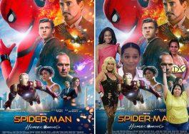 """As """"versões brasileiras"""" dos pôsteres do novo """"Homem-Aranha"""" estão incríveis! hahahha"""