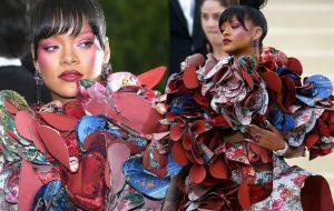 Rihanna mega elogiada como mais bem vestida + outros looks do Met Gala 2017
