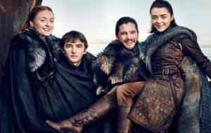 Os Starks estão reunidos em novas fotos de &#8220;Game of Thrones&#8221; <3