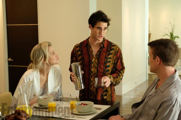 The Assassination of Gianni Versace: American Crime Story (2018) Season 2, Episode TK Pictured: (l-r) Annaleigh Ashford as Elizabeth, Darren Criss as Andrew Cunanan, Nico-Evers-Swindell as Phil. CR: Ray Mickshaw/FX
