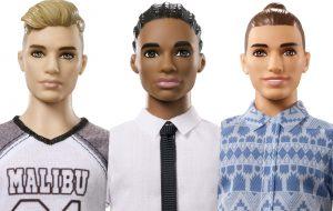 Agora o boneco Ken tem novos tipos de corpo, tom de pele e trajes!