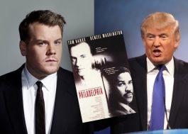 "James Corden envia 297 cópias de ""Filadélfia"" para Trump aprender sobre HIV"