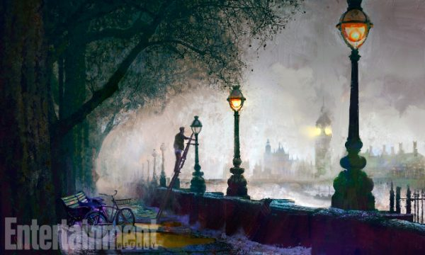 Mary Poppins Return (2018) Concept art - EMBANKMENT  ANY ADDITIONAL USAGE SHOULD BE CLEARED WITH DISNEY