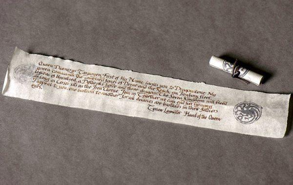 carta tyrion para jon