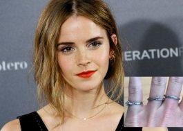 Atenção! Emma Watson perdeu 3 anéis e está oferecendo recompensa para quem achar!