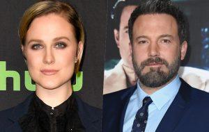 """Evan Rachel Wood rebate antiga declaração de Ben Affleck sobre beijar outro homem: """"Tente ser estuprado em cena"""""""