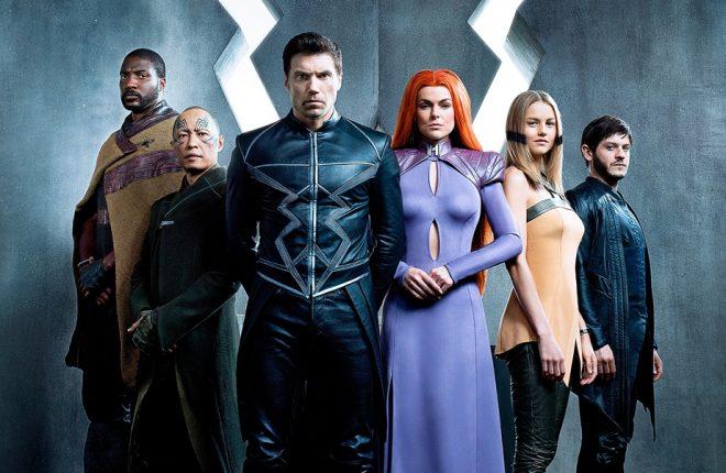 Inhumans Season 1 Gallery 2017 Pictured:  (From Left to Right) Eme Ikwuakor (Gorgon), Ken Leung (Karnak), Anson Mount (Black Bolt), Serinda Swan (Medusa), Isabelle Cornish (Crystal), Iwan Rheon (Maximus)