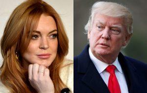 """Lindsay Lohan quer que as pessoas parem de """"fazer bullying"""" com Donald Trump"""