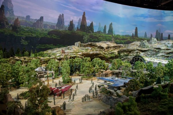 maquete star wars land 7