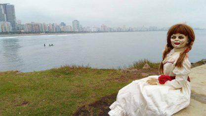 Annabelle passeando por Santos