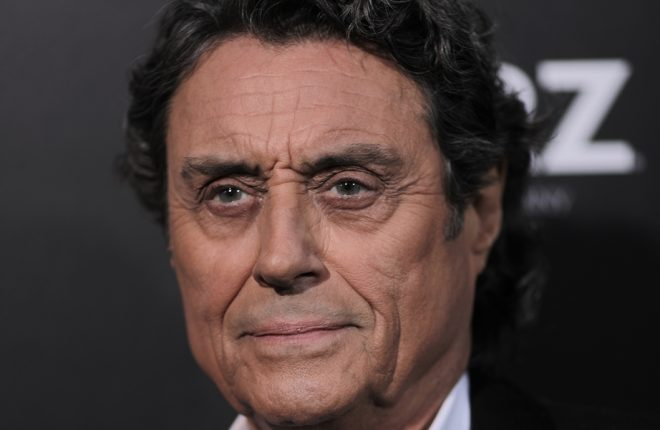 "HOLLYWOOD, CA - APRIL 20:  Actor Ian McShane attends the premiere of Starz's ""American Gods"" at the ArcLight Cinemas Cinerama Dome on April 20, 2017 in Hollywood, California.  (Photo by Neilson Barnard/Getty Images)"