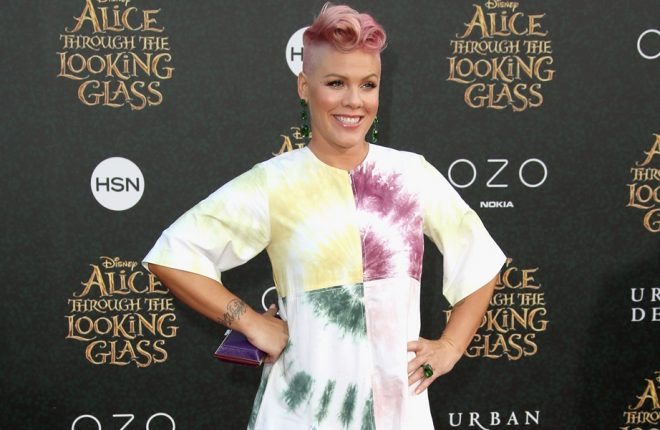 """HOLLYWOOD, CA - MAY 23:  Singer-songwriter P!nk attends the premiere of Disney's """"Alice Through The Looking Glass at the El Capitan Theatre on May 23, 2016 in Hollywood, California.  (Photo by Frederick M. Brown/Getty Images)"""