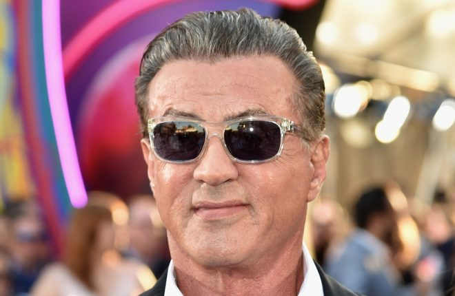 """HOLLYWOOD, CA - APRIL 19:Actor Sylvester Stallone arrives at the premiere of Disney and Marvel's """"Guardians Of The Galaxy Vol. 2"""" at Dolby Theatre on April 19, 2017 in Hollywood, California.  (Photo by Frazer Harrison/Getty Images)"""