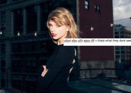 Descobriram uma mensagem misteriosa no site da Taylor Swift…