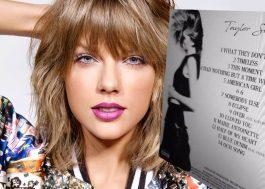 Vazaram o nome das supostas novas músicas da Taylor Swift, mas tá na cara que é fake
