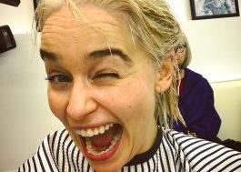 Emilia Clarke finalmente descoloriu o cabelo para viver Daenerys!