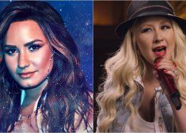 Fãs especulam que Demi Lovato está gravando parceria com Christina Aguilera