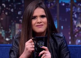 Danilo Gentili dá bebida alcoólica para Maisa durante entrevista