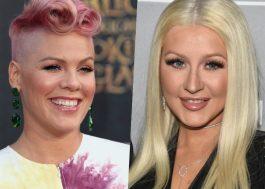 P!nk indica que gravou música com Christina Aguilera!