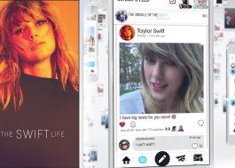 Influenciadora digital, Taylor Swift cria rede social para interagir com os fãs