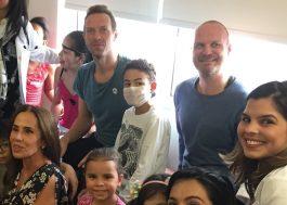 Coldplay canta para crianças no Instituto do Coração