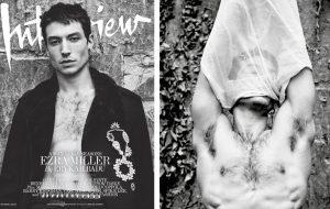 Ezra Miller faz ensaio sexy e artístico para a revista Interview
