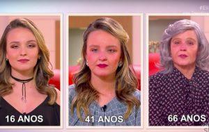 Larissa Manoela envelhece 50 anos no programa da Eliana