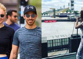 Sophie Turner veio para o Brasil com o Joe Jonas para os shows do DNCE