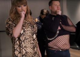 James Corden vira dançarino da Taylor Swift em vídeo hilário