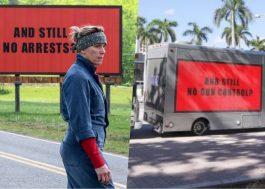 """Grupo ativista se inspira em """"Três Anúncios Para um Crime"""" para pedir por controle de armas nos EUA"""