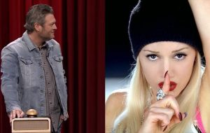 """Blake Shelton não consegue reconhecer """"Hollaback Girl"""", da Gwen Stefani"""