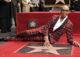 RuPaul é homenageado com estrela na Calçada da Fama