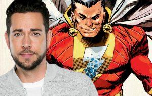"""Zachary Levi posta foto sem camisa pra mostrar seus """"poderes"""" como o Shazam! dos cinemas"""