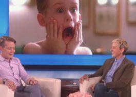 "Macaulay Culkin fala sobre ""Esqueceram de Mim"" e fama no programa da Ellen"