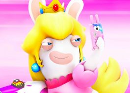 "Rabbid Peach dançando ""Naughty Girl"" da Beyoncé no ""Just Dance 2018"". Sim. :)"