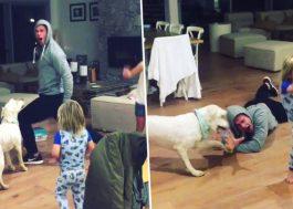 """Cunhado de Miley Cyrus dança """"Wrecking Ball"""" com os filhos e ela 😍"""