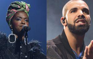 """Lauryn Hill faz remix de """"Nice For What"""", de Drake, durante show"""