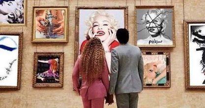 Madonna posta meme com os Carters