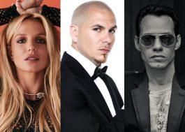 O featuring vem! Britney deve lançar em breve parceria com Pitbull e Marc Anthony