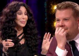 Cher diz saber com quem James Corden não cantaria de novo em seu carro