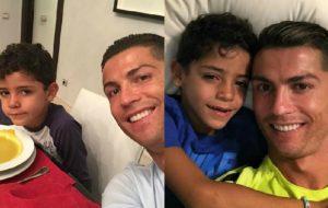 Tá rolando zoeiras do Cristiano Ronaldo se exibindo pro filho no Twitter e estamos morrendo!!!