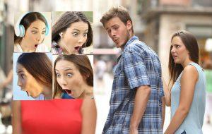 """A mulher do meme """"namorado distraído"""" é aparentemente a pessoa mais chocada do mundo… E o Twitter provou!"""