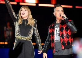 "Taylor Swift canta ""Angels"" ao lado de Robbie Williams em Londres"