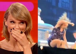 Ops! Dançarino dá rasteira em Taylor Swift durante show nos EUA