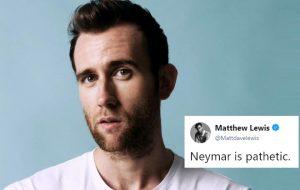 E o Neville Longbottom zoando o Neymar no Twitter?!