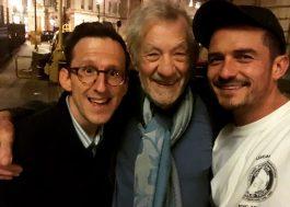 Orlando Bloom e Ian McKellen fazem uma mini reunião do elenco de Senhor dos Anéis