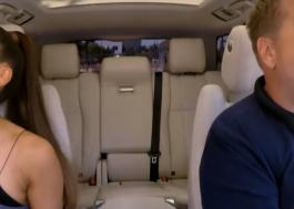 Ariana Grande canta hits e imita Céline Dion no Carpool Karaoke!