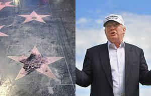 Estrela de Trump na Calçada da Fama prestes a ser oficialmente removida!