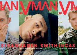 Três príncipes na capa da VMAN 40: Troye Sivan, Jaden Smith e Lucas Hedges
